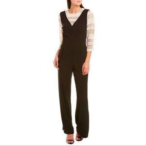 Cece Black & White Lace Undershirt Jumpsuit SZ 4